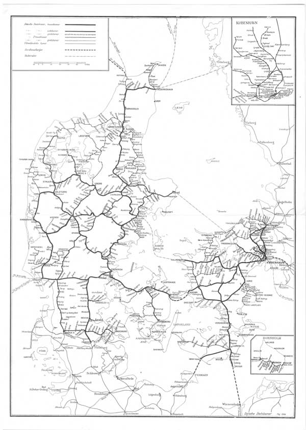 DSB system map of 1968