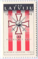 Example of Latvian exile stamp