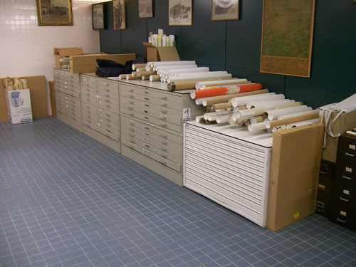 Drawers each filled with drawings