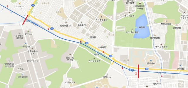 SuIn line Gozan to Ansan Map