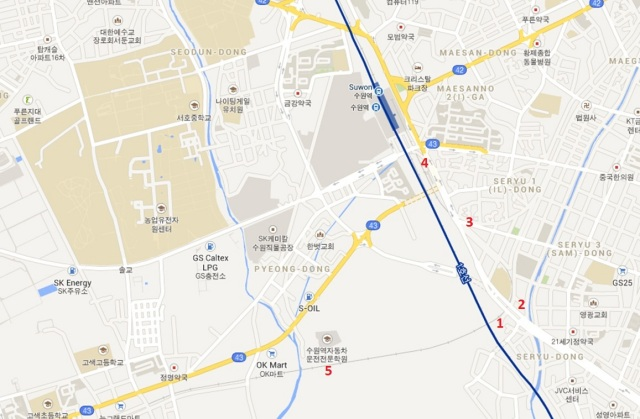 google-map-suwon-cityline